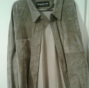 Suede Kenneth Cole shirt